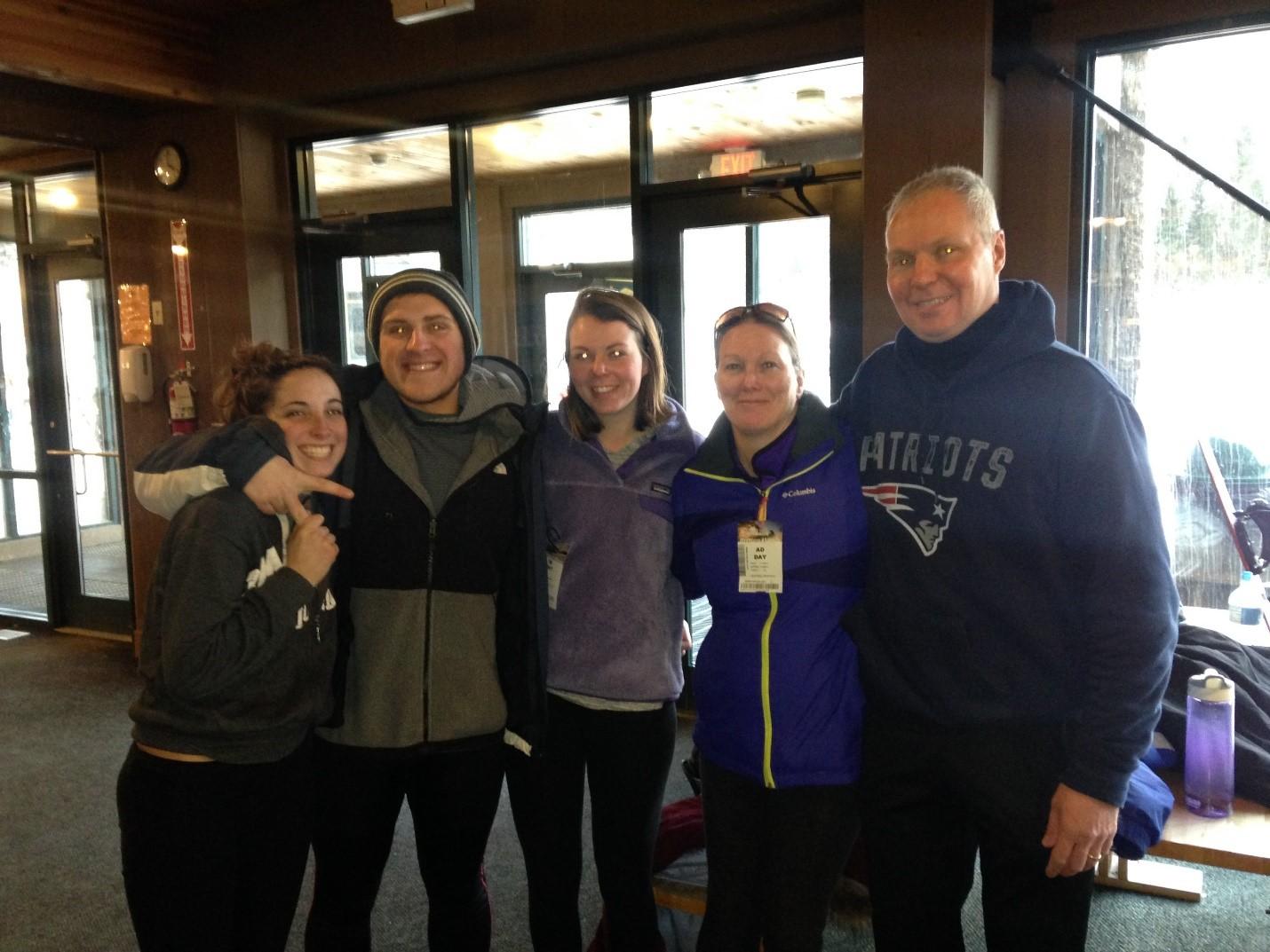 Bob skiing with fam 2-14-17