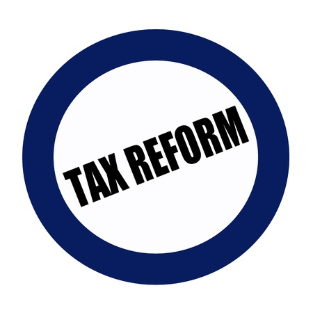 42283549 - tax reform black stamp text on blueblack