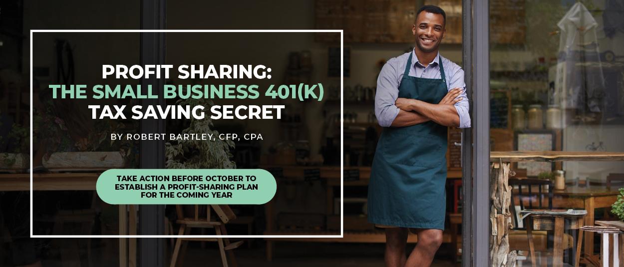 CTA image: profit sharing: the small business 401(k) tax saving secret