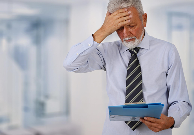 man stressed about financial planning mistakes