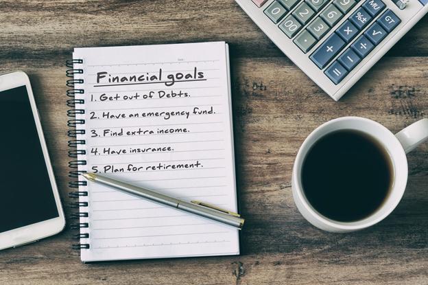 list of financial goals